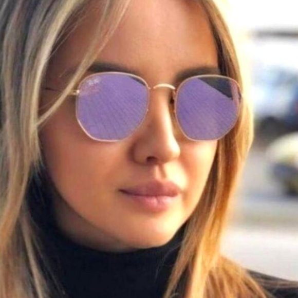 ⚣⚣⚣⚣ Ray-Ban 3548 51mm Golden Purple Sunglasses ⚣⚣